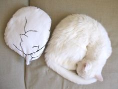 pillow cat shaped accent throw pillow decorative cushion by MosMea