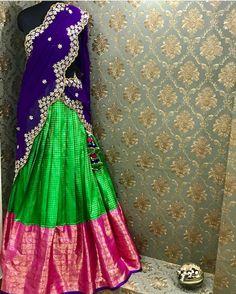 Beautiful parikini for the upcoming wedding season Indian Outfits, Indian Clothes, Sharara, Half Saree, Gold Material, Indian Wear, Wedding Season, Lehenga, Blouse Designs
