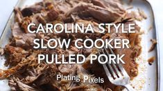 Rich spices and a tangy broth makes authentic pulled pork that's fork tender in a slow cooker. Tender flaky pulled pork to use on sandwiches, with sides or salads. Pulled Pork Recipe Slow Cooker, Pulled Pork Recipes, Slow Cooker Recipes, Crockpot Recipes, Cooking Recipes, Crock Pot Pulled Pork, Slow Cooked Pork, Cooking Fish, Cuban Recipes
