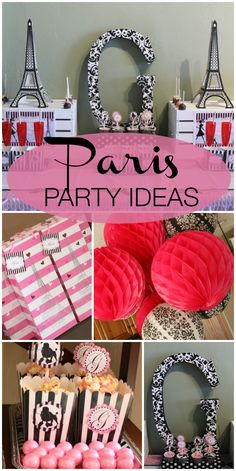 Head to Paris for this amazing French fashionista girl birthday party!  See more party ideas at CatchMyParty.com!