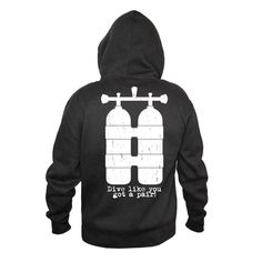 Open Water Front/Tank Back Design Hoodie Funny by OneTwoThreeT