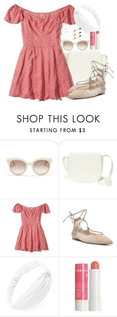 """Untitled #10540"" by veterization ❤ liked on Polyvore featuring Valentino, Deux Lux, Hollister Co., Sam Edelman, Forever 21 and Korres"