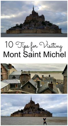 Mont St Michel Travel Tips - Things to Know Visiting Mont Saint Michel Mont Saint Michel is a bucket list destination located in the Normandy region of Northern France. The picturesque island rises majestically from the sea during high tide. Europe Travel Tips, Places To Travel, Travel Destinations, Travel Hacks, Budget Travel, European Vacation, European Travel, Paris Travel, France Travel