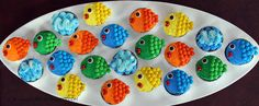 Life Is Sweets: Candy Cupcakes Part III - Mini M Bite Sized Rainbow Fish Cupcakes