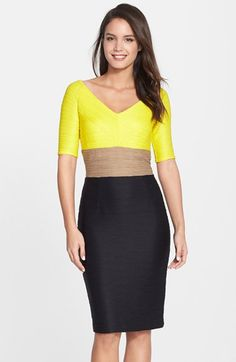 Nue+by+Shani+Ottoman+Knit+Colorblock+Sheath+Dress+available+at+#Nordstrom