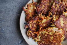 jules blaine davis: sweet potato & zucchini quichkes (paleo pancakes).