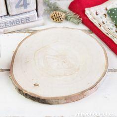 Base de madera rústica para decorar