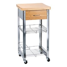 Küchenwagen metall  Stilvoller Küchenwagen in Weiß und Braun - flexibel und praktisch ...