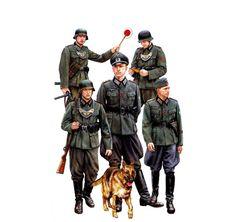 Policía Militar de Campo Figura alemán de WWII