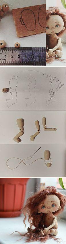 Dobradiça braços e pernas bonecas talão têxteis através ..