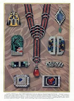 Art Deco Jewels 1927 Templier, Dusausoy, Vever, Roger Sandoz, Marchak, Robert Linzeler – HPrints
