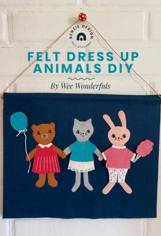 Felt Dress Up Animals DIY – Benzie Design