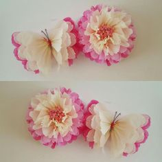 3 flores 2 mariposas y 2 pesas de globo party por Ohsopretty37