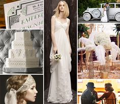 Great #Gatsby-inspired, 1920′s #wedding Inspiration