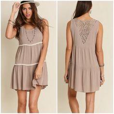 """✨New✨ Mocha Three Tier Dress Cotton/Polyester blend sleeveless dress. Size Small laying flat:  Bust 18""""  Waist 21"""", Medium Bust 19"""". Waist 22"""", Large 20"""". Waist 23"""". Length 35"""". Dresses"""
