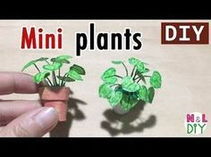 DIY Miniature Plants for Dollhouse How to make Mini Plants for Doll Dollhouse Miniature Tutorials, Miniature Dolls, Diy Dollhouse Miniatures, Miniature Houses, Miniature Plants, Mini Plants, Barbie Furniture, Barbie House, Miniture Things