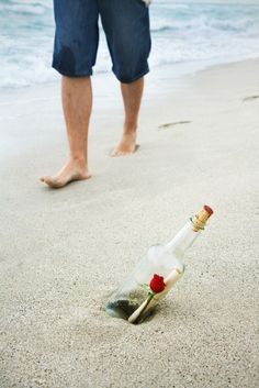 Romantic message in a bottle