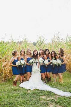 Country Wedding Bride & Bridesmaids