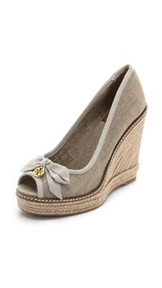 Tory Burch  Jackie Wedge Espadrilles