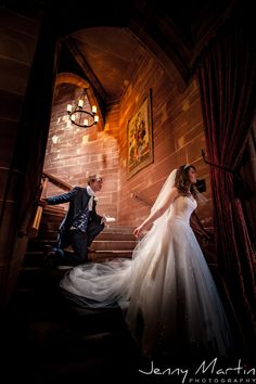 Peckforton Castle - Cinderella on the Stairs