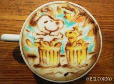 Snoopy latte art→follow← my board ♡ͦ* ¢σffєє σвѕєѕѕє∂ ♡ͦ* @ ★☆Danielle ✶ Beasy☆★
