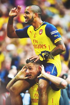 Theo and Giroud. Beautiful photo