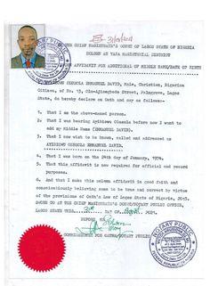 Affidavit of Mr Ayibiowu Olusola Emmanuel David David, Pdf