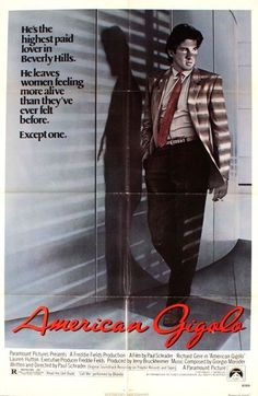 Here are some great original MOVIE POSTERS from the 80's!! All available for sale.  AMERICAN GIGOLO -1980- original 27x41 movie poster - RICHARD GERE, LAUREN HUTTON