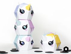 Diy Paper Toy Free Printables Ideas For 2020 Papier Diy, Kawaii Doodles, Unicorn Crafts, Paper Crafts Origami, Toy Craft, Paper Toys, Cute Crafts, Unicorn Party, Diy Toys