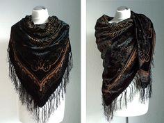 Schals - Seidentuch schwarz - ein Designerstück von tiana-S bei DaWanda