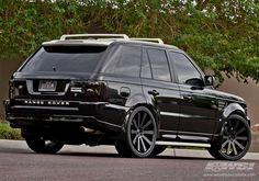 "2010 Land Rover Range Rover Sport with 24"" Gianelle Santo-2SS in Matte Black (Black lip) wheels"