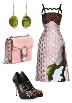 """Outfit of the day"" by shinella-blair-harris on Polyvore featuring Mary Katrantzou, Gucci, Alexander McQueen and Jamie Joseph"
