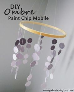 paint chip mobile. I like this and can do it in greens and yellow like Jax bedding :)