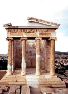Restoraton of Athina Nike Temple, Athens. Greece Restoraton of Athina Nike Temple, Athens. Ancient Ruins, Ancient Rome, Ancient Greece, Ancient History, European History, Ancient Artifacts, American History, Greece Architecture, Sacred Architecture