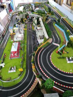Slot Car Race Track, Slot Car Racing, Slot Car Tracks, Race Tracks, Scalextric Track, Carrera Slot Cars, Scenery, Circuits, Car Stuff