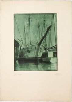 Títol: Mar verde. Autor: Joaquim Pla Janini. 1948. Mides:  70,3 x 50,1 cm. Bromoli transportat. MMB 74000F 1, Photography, Painting, Authors, Fishing, Photos, Photograph, Photography Business, Painting Art