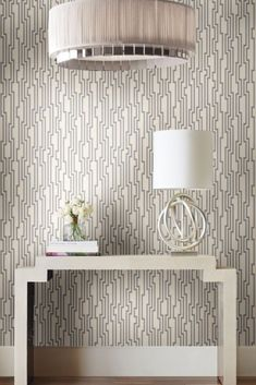 VELOCITY Wallpaper by Candice Olson for York Wallcoverings • OL2788 •  Printed foil in my signature graphic stripe • #yorkwall #yorkwallpaper #yorkwallcoverings #lovewallpaper Glam Wallpaper, Candice Olson, Advice, York, Printed, Inspired, Color, Inspiration, Design