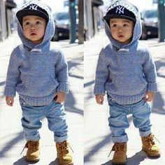 Boy - Winter, Fall, Hoodie, Hat, Boots