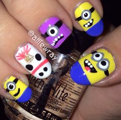 Despicable Me Nails