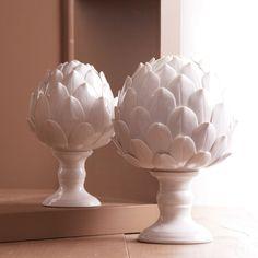 La Vie en Blanc Artichoke Sculptures