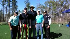 """Pro Long Driver Josh """"Superman"""" Crews entertaining at the NBA Legends All Star Weekend golf tournament in Houston 2013."""