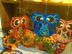 lechuzas pintadas en fibrofacil - Buscar con Google