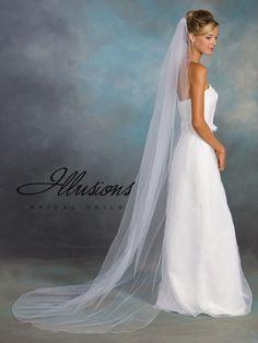 Illusions 7-901-C  #Wedding Veil  #Wedding Veils,  #Illusion Wedding Veils,  #Veils, Headpieces,  #Bridal Headpieces,  #Bridal Tiaras,  #Tiaras,  #Illusion Headpiceces,  #Bridal Veils  #timelesstreasure