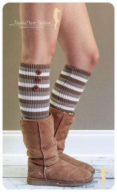 Women Knitted Christmas Leg Warmers Boot by MarkaDecorFashion