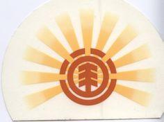 Element Skateboards Rising Sun Logo Sticker.  Click on picture to purchase #skate #skateboard #skateboarding #element #elementskateboards #bam #BamMargera