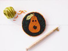 Broche d'Halloween , broche citrouille , Lunéville , accessoire Halloween…