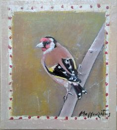 Goldfinch: oil on laminate