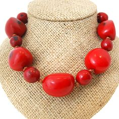 Indian Summer Necklace - Red