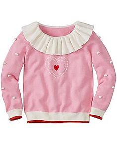Girls Dr. Seuss Grinch Pom Pom Sweater by Hanna Andersson