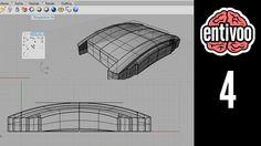 Creación de superficies en Rhinoceros y proyección de curvas - Parte 1